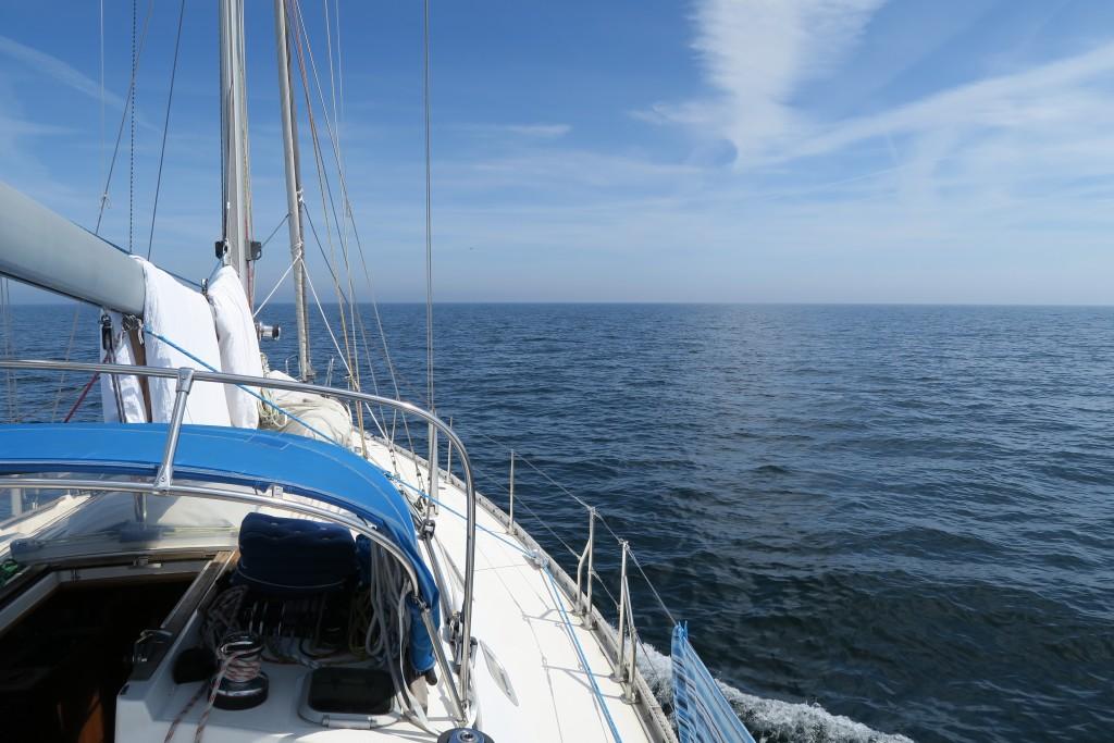 auf See Richtung Bornholm