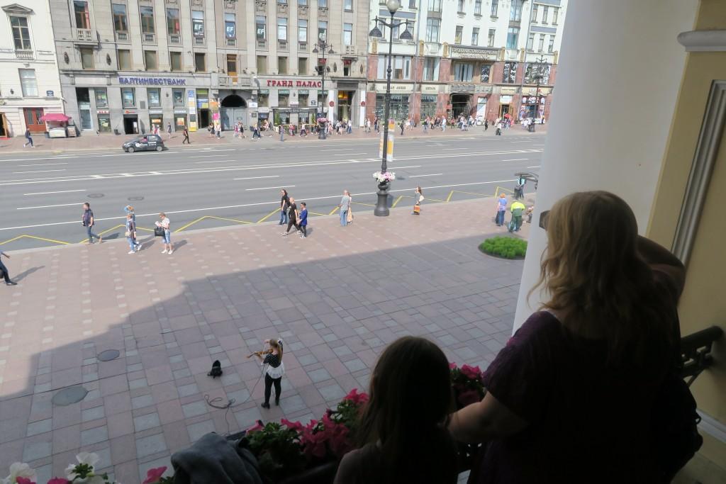 vom Balkon des ältesten Einkaufszentrums der Welt