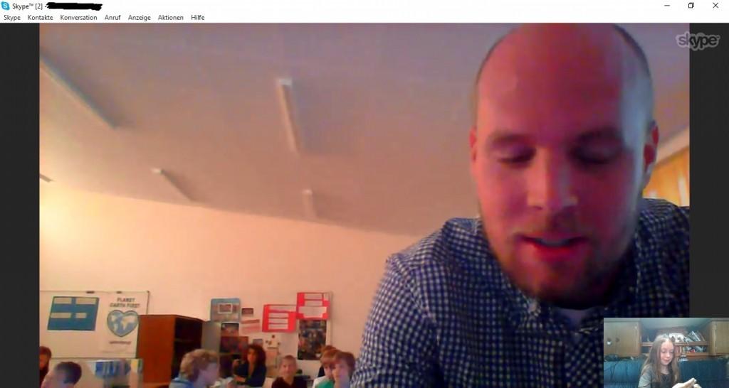 Skype-Vortrag vor Emmas Klasse