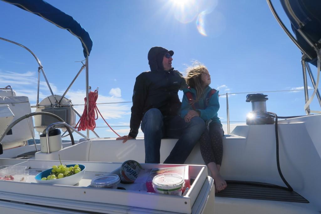 bei knackigem Wind über den Golf von Finland
