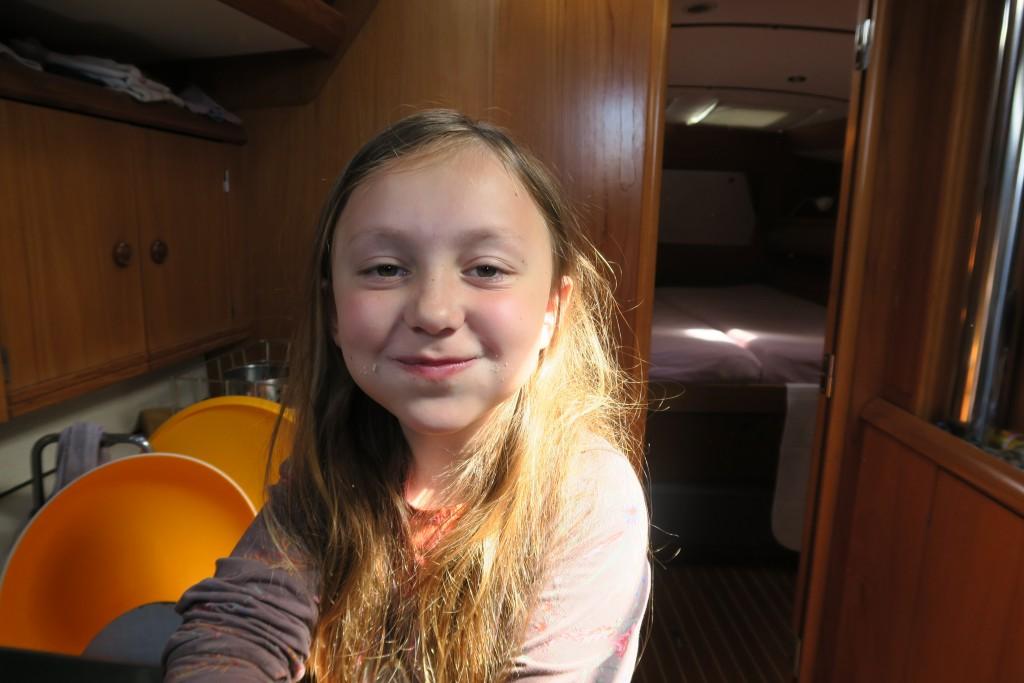Emma nach dem Genuß des ersten von 11 importierten Hanseaten