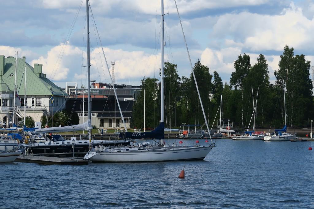 """Diese schöne Swan """"Eira"""", benannt nach einem Nobel-Stadtteil von Helsinki, haben wir schon mal in Kiel getroffen"""