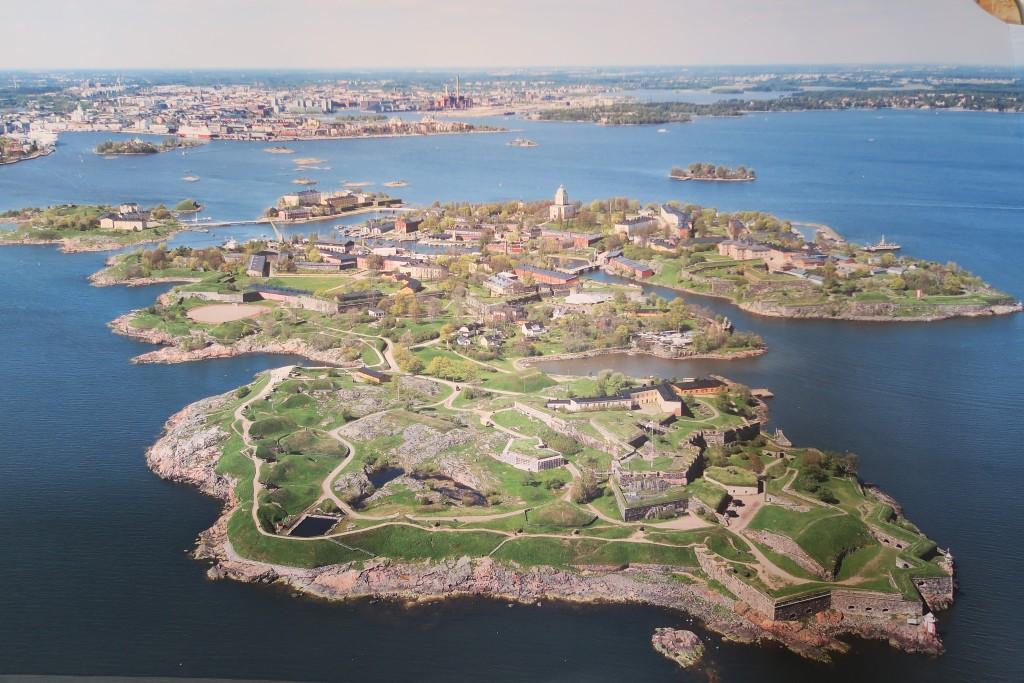 abfotografiert aus dem Museum: Suomenlinna im Sommer