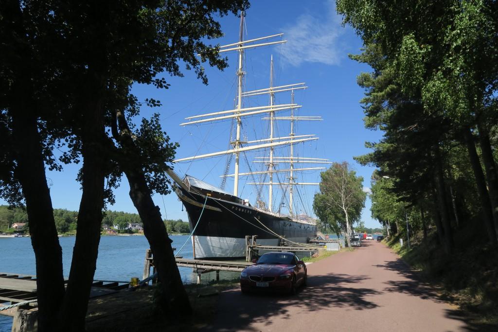 Pommern - der hintere Mast fehlt wegen der Restauration