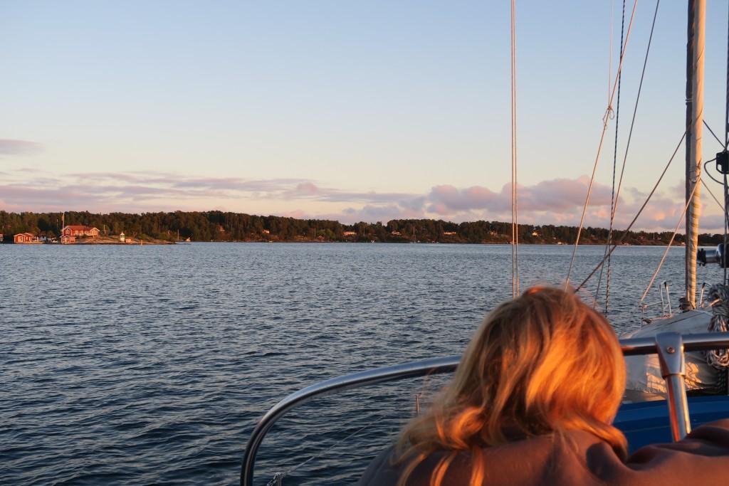 abendlicher Aufbruch Richtung Visby von Dalarö