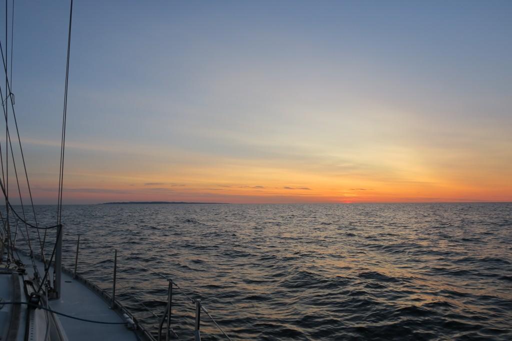 Sonnenuntergang; Møn am Horizont